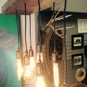 Metal Barnwood Chandelier